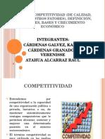 Tema.13 Competitividad de Calidad, Precios y Otros Fatores, Definición, Factores, Bases y Crecimiento Económico
