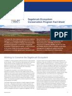 Sagebrush Ecosystem Conservation Program Fact Sheet