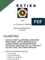 It 10 - Farmakologi Pada Gangguan Fungsi Ginjal (Diuretik) - Teo
