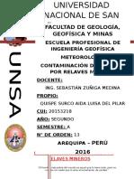 Contaminación de Los Ríos Por Relaves Mineros Meteo