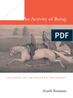 Aryeh Kosman-The Activity of Being_ an Essay on Aristotle's Ontology-Harvard University Press (2013)