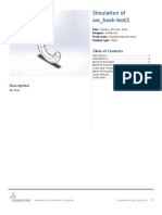 A Hook Test SimulationXpress Study