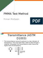 PMMA Test Method
