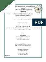 Determinación de hierro en comprimidos de FeSO4