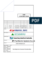 The Setting List of Generator Protection Relay(CEBU-P1-20-V-220003)