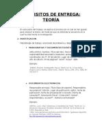 Requisitos de Entrega TeorÃ-A