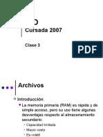 Clase 03 - Archivos III