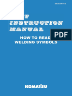 Komatsu Unit Instruction Manual How to Read Welding Symbols