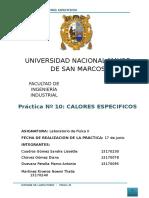 I- 10 Calores Especificos-FISICA 2
