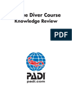 PADI Rescue Diver - Blank Knowledge Review