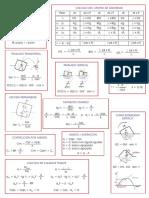 Teoria Del Buque Formulas