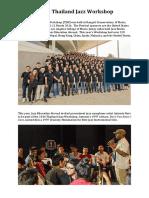 Thailand Jazz Workshop Overview 2016