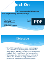 Investigation on Commercial Vehicles for Improving Productivity