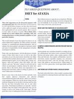 Ataxia Diet FAQ