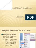 01. Mengenal Wm. Word 2007