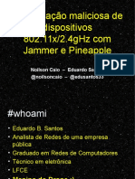 Wifi Hacking com Pineapple - Security Day 2015