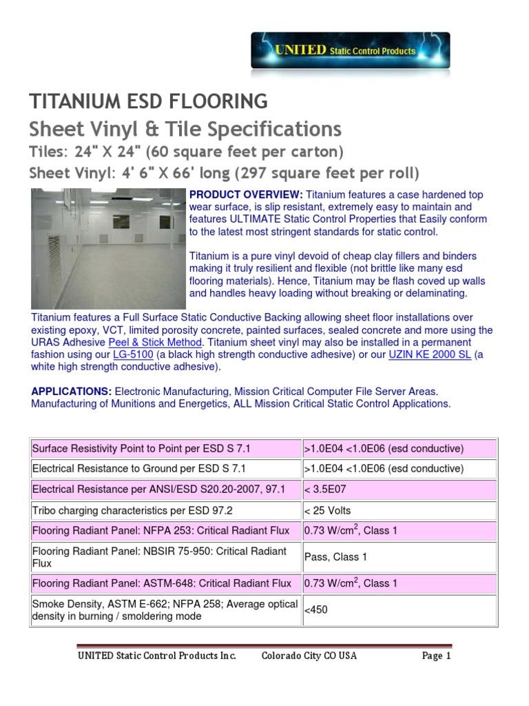 Titanium Specifications | Electrostatic Discharge | Flooring