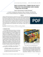 A Remote Monitoring System for a Three-phase 10-Kva Switchable Distribution Transformer Using Zigbee Wireless Network