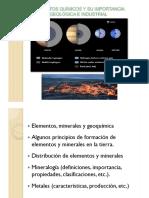 12. Temas-Elementos, Minerales y Geoquimica y Mineralogía Mayo 2014