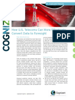 Pinnacle Digital Advisiors- How U.S.Telecoms Can More Effectively Convert Data to Foresight.