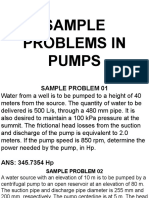 Problems in Pumps