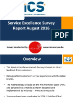 Service Excellence Survey Report 2016