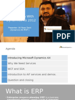 Integration with dynamics ax 2012