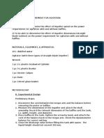 Agitation Experiment Manual