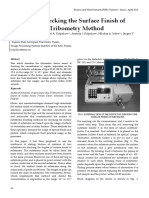 Device for Checking the Surface Finish of Substrates by Tribometry Method