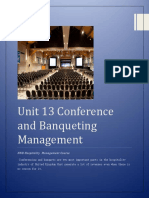 Unit 13 Conference and Banqueting Management