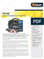 PV150 Installation Test Kit