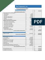 financials prep sample