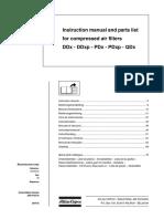 DDx-DDxp-PDx-PDxp-QDx Instruction Book & Part List