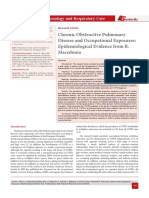 Chronic Obstructive Pulmonary Disease and Occupational Exposures