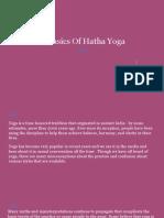 The Basics of Hatha Yoga
