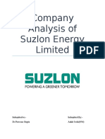 Company Analysis of Suzlon Energy Limited