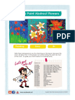 How to Paint Easy Abstract Flowers