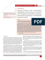 Cetrolix Protocol versus Conventional Clomiphene Citrate Protocol in Women with Unexplained Infertility Undergoing Intrauterine Insemination