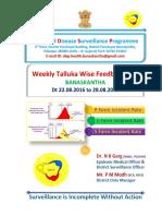 Week 34 Feedback Incident Rate 2016 Idsp Banaskantha