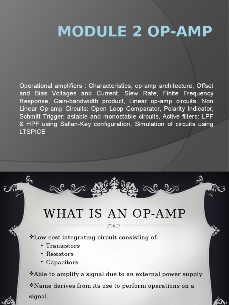 MODULE 2 OP-AMP | Operational Amplifier | Amplifier