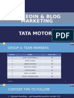 Tata Motors LinkedIn Strategy
