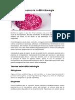 A História e Os Marcos Da Microbiologia