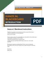 Hanze.nl / Blackboard instructies EN