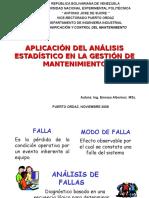 Aplicacion Del Analisis Estadistico Gestion Mantenimiento