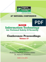 NCS Conference 2016 Proceedings Information Technology for National Safety Security