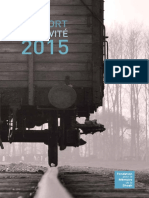 Rapport d'activités 2015 - Fondation pour la Mémoire de la Shoah