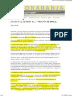 De Lo Imaginario a Lo Ficcional Auge, Marc