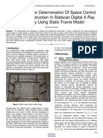 Methodology for Determination of Space Control for 3d Reconstruction in Statscan Digital X Ray Radiology Using Static Frame Model
