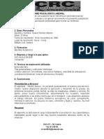 Informe Psicológico Laboral Alberto Suarez Gomez