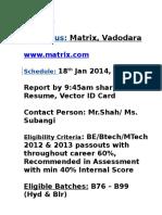 Campus Matrix Vadodhara